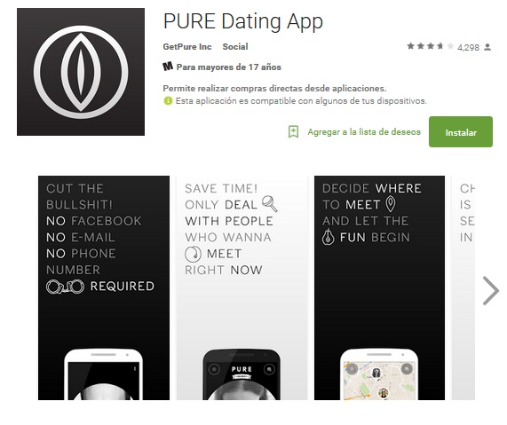 is the pure dating app discrete